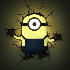 Die Minions 3D-Wandleuchten Kevin & Stuart als nette Hommage an den kultigen Animationsfilm rund um die gelbe Chaos-Truppe.