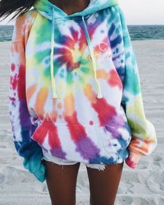 Tie Dye Outfits, Cute Outfits, Tomboy Outfits, Flannel Outfits, Dress Outfits, Fashion Dresses, Tie Dye Supplies, Rainbow Tie Dye Hoodie, Tie Dye Rainbow