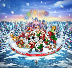 You too can be an artist when you paint with Diamonds! Every kit gives you a chance to create a work of art you can be proud of. This diamond painting kit Disney Christmas Decorations, Mickey Christmas, Christmas Art, Christmas Holidays, Disney Fun, Walt Disney, Disney Mickey, Illustration Noel, Illustrations