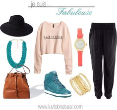 Fashion Friday: Je Suis Fabuleuse Featuring #NikeDunks #HaremPants #FabuleuseSweater #WideBrimFedora