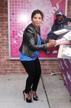 I will always love Toni Braxton with short hair. She looks so fab.
