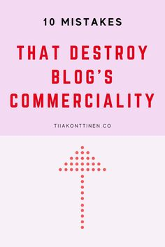 10 MISTAKES THAT DESTROY BLOG'S COMMERCIALITY I In this post, I'll go through 10 mistakes that destroy blog's commerciality. It has been a long time since just about anything was written on the blog, and blurry, dark pictures accompanied the text. So are you ready to find out the 10 mistakes that destroy blog's commerciality? #blogging #bloggingtips #profitable blog #tiiakonttinen How To Start A Blog, How To Find Out, How To Make Money, Dark Pictures, Blog Topics, Free Blog, Blogging For Beginners, Make Money Blogging, Mistakes