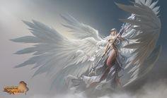 「league of angels」の画像検索結果 League Of Angels, Fantasy Character Design, Character Art, Angel Warrior, Ange Demon, Angel And Devil, Angels And Demons, Angel Art, Fantasy Girl