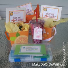 Make Do: End of the School Year Teacher Thank You Gifts