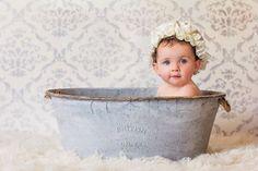 Sombrero del bebé de la fregona en por CherryBlossomTale en Etsy