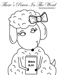 Church House Collection Blog: There's Power In The Word Sheep Coloring Page For Sunday School Kids