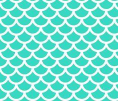mermaid - ocean wallpaper by gingerme for sale on Spoonflower - custom wallpaper