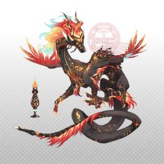 Mythical Creatures Art, Magical Creatures, Fantasy Creatures, Fantasy Character Design, Character Design Inspiration, Character Art, Creature Concept Art, Creature Design, Fantasy Dragon