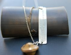 Fortune Cookie necklace  Don't pursue happiness.. by tiffanycoley, $90.00