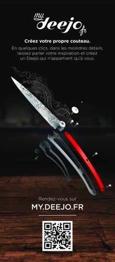 CLICK HERE  be the 1st to customize your very unique knife, stripped to the essentials #Knife #Deejo