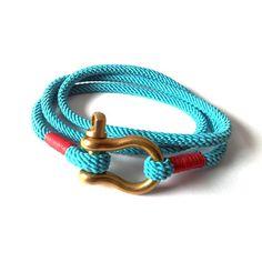 Armband Baumwolle Türkis