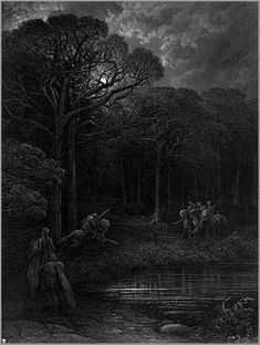 "Gustave Doré's illustration of Lord Alfred Tennyson's ""Idylls of the King"", 1868."