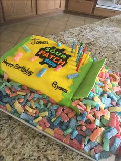 Birthday cake sour patch