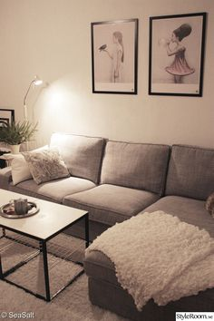 Having small living room can be one of all your problem about decoration home. To solve that, you will create the illusion of a larger space and painting your small living room with bright colors c… Tiny Living Rooms, Ikea Living Room, Apartment Living, Home And Living, Living Room Designs, Living Spaces, Ikea Kivik, Ikea Couch, Home And Deco
