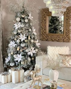 Is it Christmas yet? So excited for my Christmas In July collection for launching tomorrow Friday at EST! Elegant Christmas Trees, Christmas Tree Inspiration, Classy Christmas, Christmas Tree Themes, Noel Christmas, White Christmas, Xmas, Winter Wonderland Christmas, Boho Home