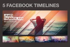 5 Modern Facebook Timeline Covers by styleWish on @creativemarket