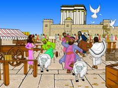 """""""The Passover was at hand, and Yeshua went up to Jerusalem. In the temple He found those who were selling oxen and sheep and doves, and the money-changers sitting there. Making a whip of cords, He drove them all out of the temple, with the sheep and oxen... He told those who sold the doves, """"Take these things away; do not make my Father's house a house of trade."""" His disciples remembered that it was written, """"Zeal for your house will consume me."""" (John 2)"""