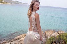 robe de mariée épurée dos en dentelle de la robe Elise de caroline takvorian mariée