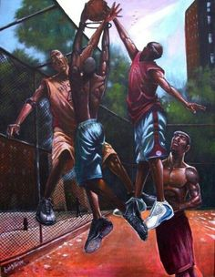 On the court Black Art African American Artwork, African Art, American Artists, Tattoo Studio, Basketball Art, Street Basketball, Basketball Players, Black Art Pictures, Black Artwork