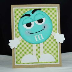 How to make an M card. How cute and easy!