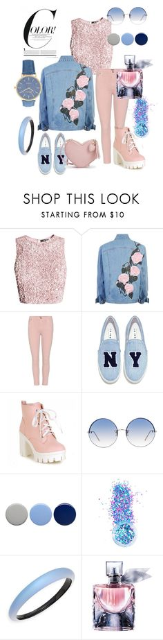 """""""ELIZABETH SANTOS  PINK & BLUE"""" by elisants ❤ liked on Polyvore featuring Citizens of Humanity, Joshua's, Linda Farrow, Burberry, In Your Dreams, Alexis Bittar and Lancôme"""
