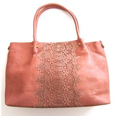 Love this bag with the lace accent