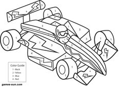 race car coloring by numbers - games the sun | games site flash games online free for girls and kids