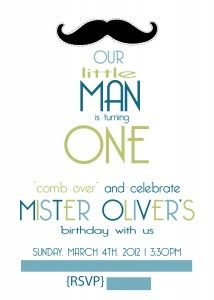 little man birthday invitations