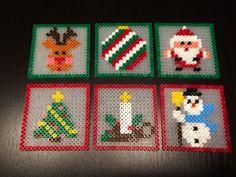 Chreistmas coasters hama perler beads by Julie Loose