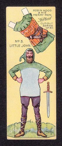 Robin Hood Scarce 1928 Typhoo Tea Paper Doll Card n°3 Little John #recortable #scissorwork #papertoy- Carefully selected by GORGONIA www.gorgonia.it