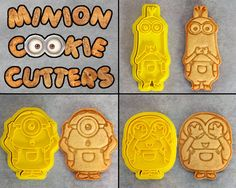 3 Pce Minion Cookie Cutter Set par CrimsonManeCreations sur Etsy