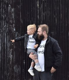 The ultimate minimal monochrome tee for those kids who love play time. Ideal for a little bit of with Mum or Dad too – see our adult version. Play Hard, Baby Wearing, Boy Fashion, Little Ones, Work Hard, Monochrome, Twins, Folk, Dads