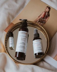 This set is the ideal gift for anyone needing a restful sleep. Made with sleep inducing essential oils, our Sleep Well Set will ease your mind and soothe your senses. Natural Sleep Aids, Cruelty Free, Lotion, Essential Oils, Skincare, Relax, Wellness, Bottle, Skincare Routine