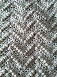 Popcorn Stitch Afghan Crochet Pattern In Three Sizes