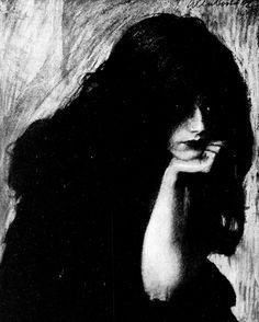 Weekly Illustrated No. 1908 (Warsaw) Cover Illustration by Teodor Axentowicz. Dark Fantasy, Fantasy Art, Arte Horror, Gravure, Dark Art, Art Inspo, Art Reference, Printmaking, Art Drawings