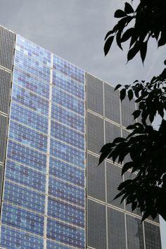 "#PhotovoltaicFacade ""Frábrica del Sol"", #Barcelona (Catalonia, Spain)"