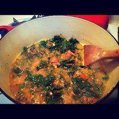 She Eats Well: Get Better Soon Soup: Spicy Lentil & Kale Soup