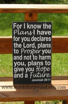 Jeremiah 2911 Christian Scripture Subway Art by WordsForTheSoul, $50.00