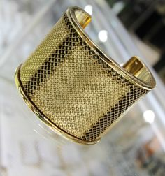 Burberry Gold Cuff Bracelet #Burberry #DynastyPawn #www.Dynastypawn.com
