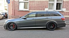 Mercedes-Benz E63 AMG Wagon with P43SC in Satin Black