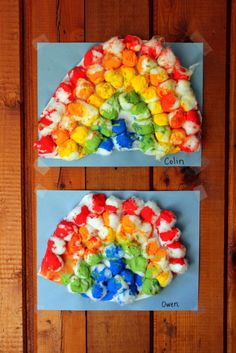 A fun, messy rainbow craft!