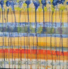 Farbentränen Mischtechnik auf Leinwand ( Originalbild) 30 x 30 cm | KunstiX