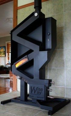 This is a rocket stove on steroids. A pellet stove that doesn't require electricity? You've found it, the WiseWay Pellet Stove. No noise, no moving parts, no electricity. Eco Deco, Rocket Mass Heater, Stove Fireplace, Rocket Stoves, Wood Burner, Homestead Survival, Deco Design, Alternative Energy, Home Projects