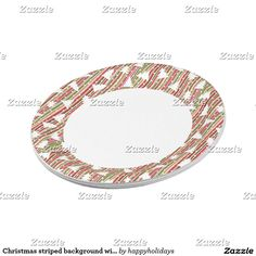 Christmas striped background with trees paper plate  sc 1 st  Pinterest & Merry Christmas Gingerbread Man Cookie Plates | Christmas Party ...