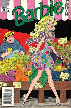 vintage barbie comic book
