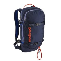 0681a6527cb The burly Patagonia SnowDrifter Pack is a full-day ski board backcountry  pack that carries a complete snow safety tool kit and has back-panel access.