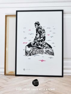 Every Mermaid comes with a story  I have created 8 new posters and printed them all as silk-screen on a piece of 250g paper. It is a Scandinavian story inspired by the 80s and the Danish countryside ...  Do not miss this opportunity to purchase these new artprints in a limited edition of 35 pcs, numbered and signed copies.