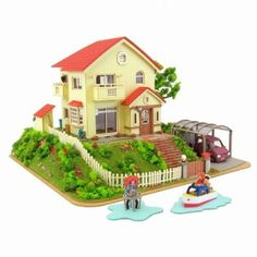 Build the house on the Cliff from Ponyo with Papercraft
