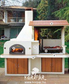 Antille olasz kerti grill és kemence