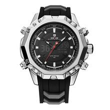 SALE US $40.99 - WEIDE Men Analog Sport LCD Digital Rubber Band Buckle Hardlex Calendar Auto Date Day Quartz Dual Time Display Wristwatch